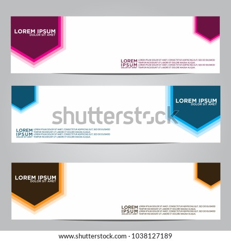 Vector design Banner backgrounds in three different colors. #1038127189