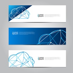 Vector design Banner Cloud computing technology background. illustration EPS10