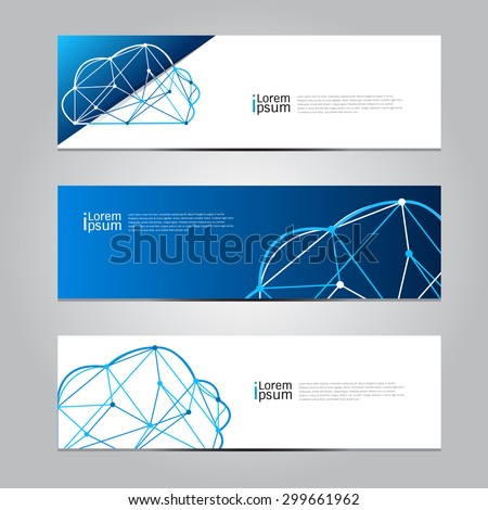 Vector design Banner Cloud computing technology background. illustration EPS10
