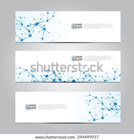 Vector design Banner network technology medical background. illustration EPS10