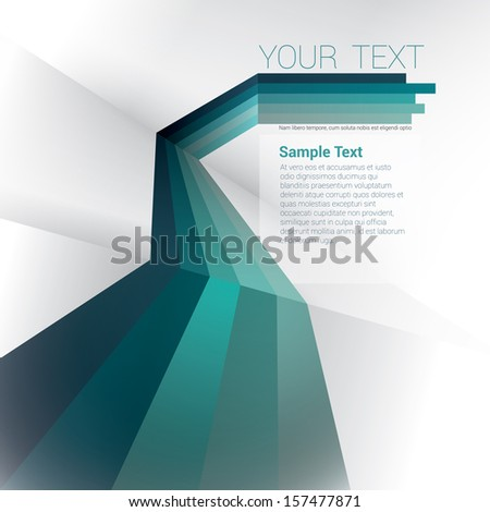 Vector design. Blue edition of a scalable eps10 abstract geometric background with  trendy retro stripes & the sense of 3d with menu and text field as a layout for a brochure or web, for universal use