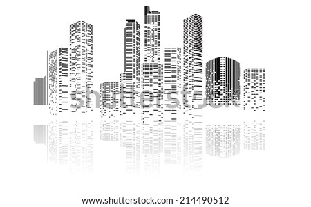 vector design building and city ...