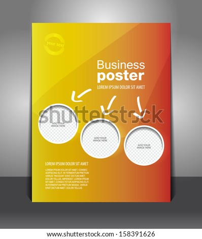 Vector design color flyer with place for image, magazine cover, poster template