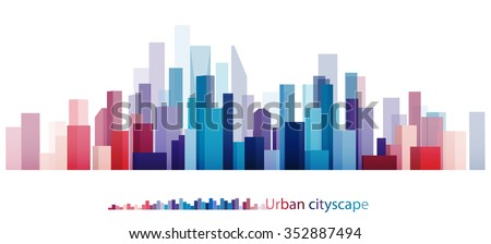 Vector Design Colorful Building and City, Urban cityscape, Abstract of city image