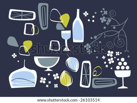 vector - design composition for restaurant