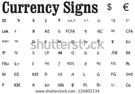 Vector Currency Symbols Download Free Vector Art Stock Graphics