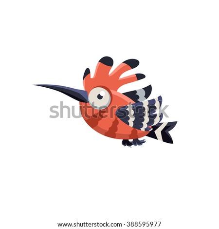 vector design cute hoopoe mid
