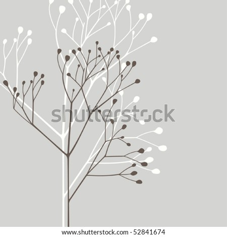 Vector design element; abstract plant