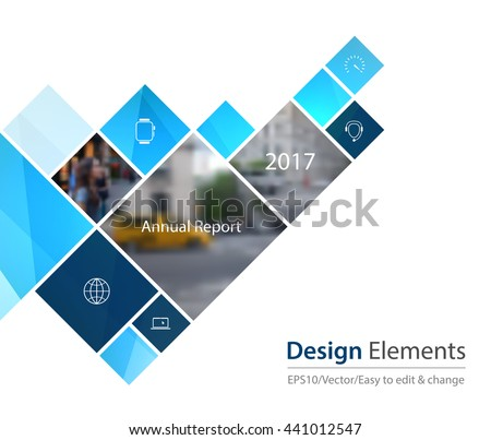 Vector Design Element for graphic layout. Abstract background template with squares and arrow for business and communication in flat style with mosaic connection concept. Modern poster.