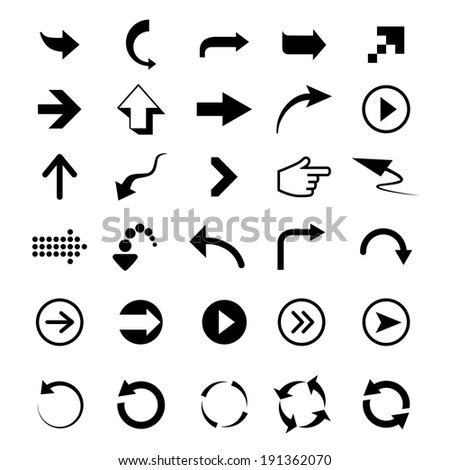 Vector design elements. Arrows signs on a white background #191362070