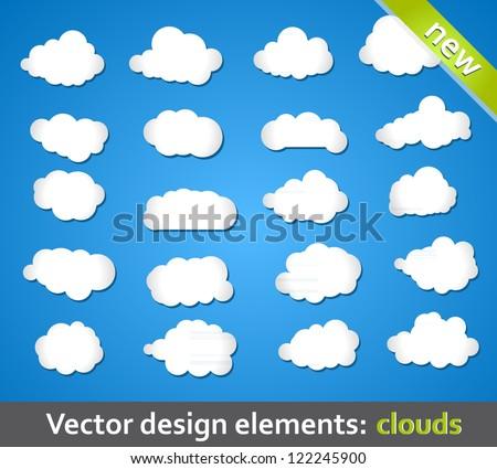 Vector Design Elements. Clouds.