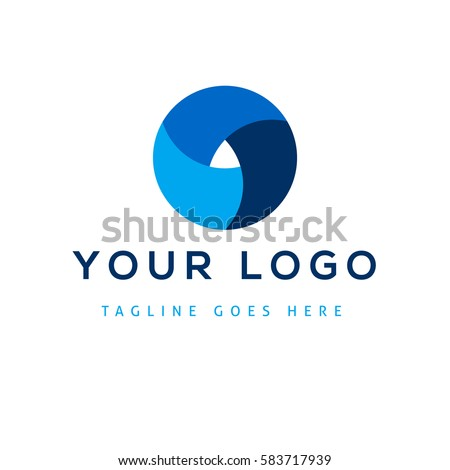 Vector design elements for your company logo, abstract blue icon. Modern logotipe, business corporate template.