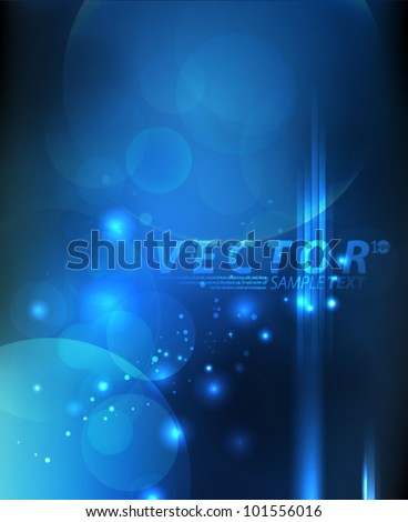 Vector Design - eps10 Abstract Blue Lights Concept Background