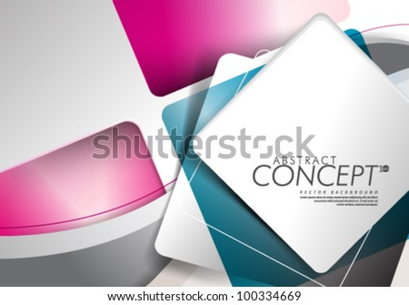 Vector Design - eps10 Abstract Concept Colorful Background