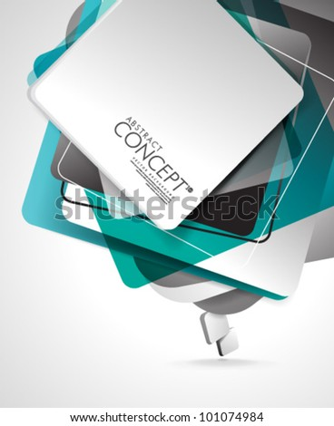 Vector Design - eps10 Abstract Cube Concept Colorful Illustration