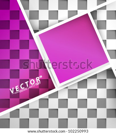 Vector Design - eps10 Abstract Squares Concept Background
