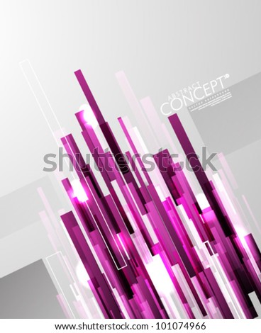 Vector Design - eps10 Bright Diagonal Lines Concept Illustration