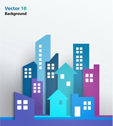 Vector Design - eps10 Building and houses Illustration, Real estate, Abstract 3D Buildings