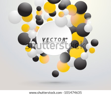 Vector Design - eps10 Colorful Floating Bubble Concept Background
