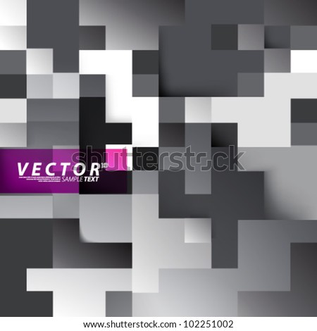 Vector Design - eps10 Digital Squares Concept Background