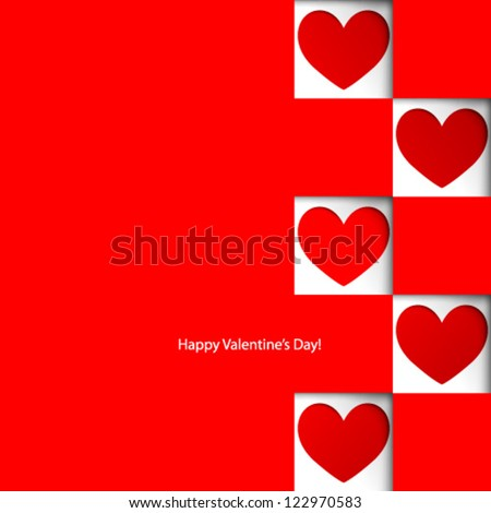 Vector Design - eps10 Overlapping Heart Shapes Background