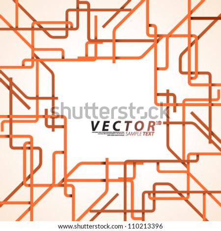 Vector Design - eps10 Overlapping Lines Concept Illustration