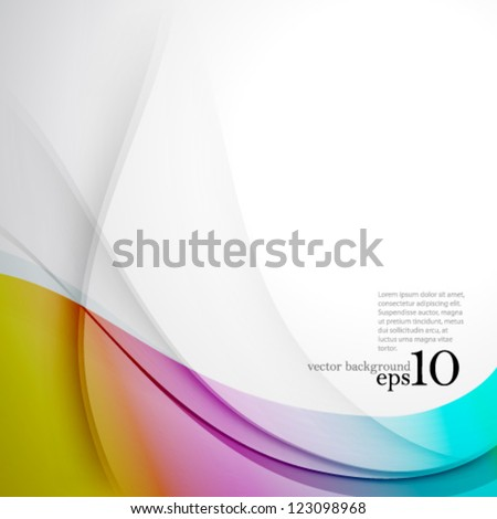 Vector Design - eps10 Overlapping Smooth Curve Lines Concept Background