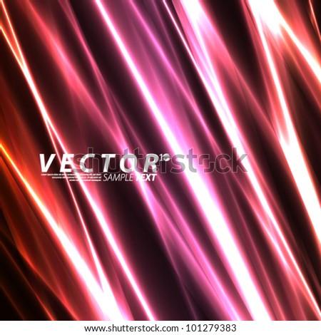 Vector Design - eps10 Red Lights Laser Effect Concept Background