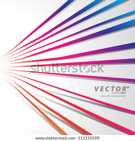 Vector Design - eps10 Simple Lines with Shadows Concept Background