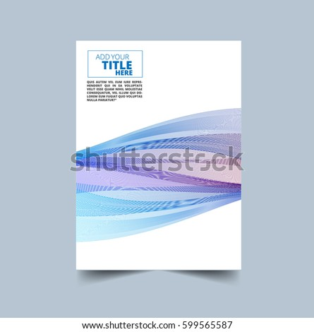 Vector design for Cover Report Annual Flyer Poster in A4 size #599565587