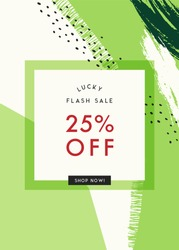 Vector design for St. Patrick's Day sale web banners, posters, flyers. Good for social media, email, print, ads design and promotional material.
