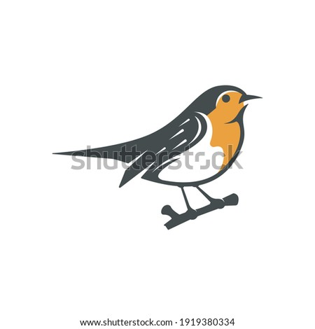 vector design logo robin bird  Zdjęcia stock ©
