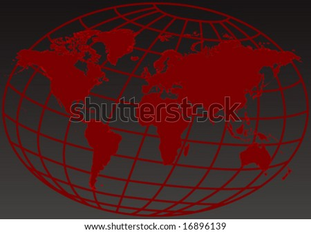 Vector design of an editable red map of the world