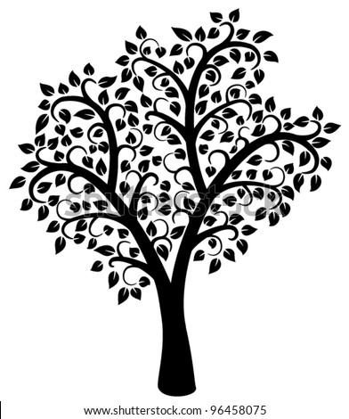 Black  White Kitchen Designs on Vector Design Of Black And White Tree   96458075   Shutterstock