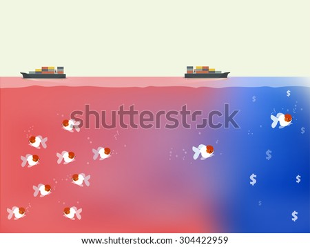vector design of blue ocean and