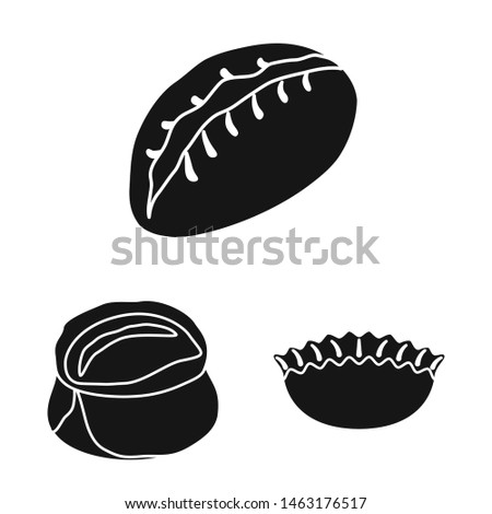 Vector design of cuisine and appetizer logo. Collection of cuisine and food stock symbol for web.