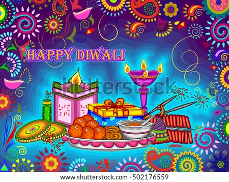 vector design of diwali