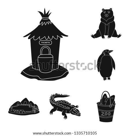 Vector design of fauna and entertainment symbol. Collection of fauna and park stock vector illustration.