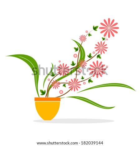 Vector design of flower in pot