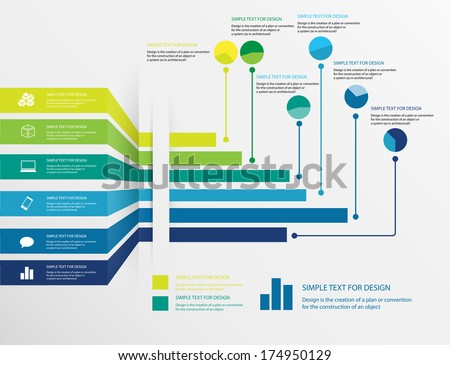Vector design of infographic business chart, Abstract chart Infographic