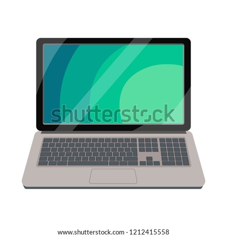 vector design of laptop and