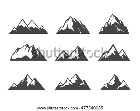mountain shapes for logos ez canvas