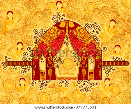 vector design of palanquin in...