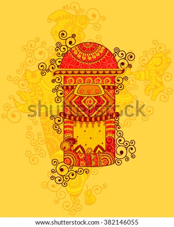 vector design of post box in...