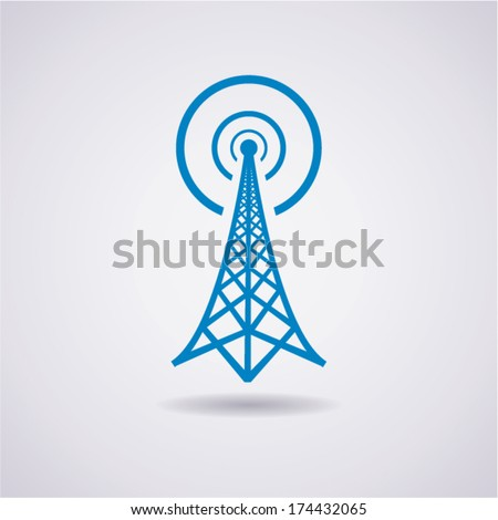 vector design of radio tower