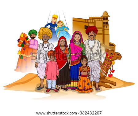 vector design of rajasthani