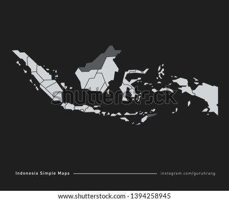 Vector design of simple Indonesia Map with polygonal design and editable EPS-10 format