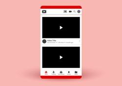 vector design of social media mobile app user interface