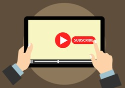 vector design of subscribe promotion social media account