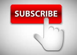 vector design of subscribe push button promotion
